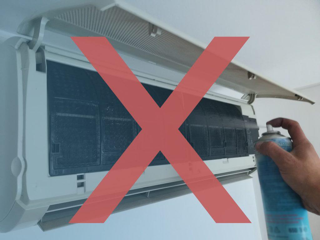 Come non pulire un condizionatore